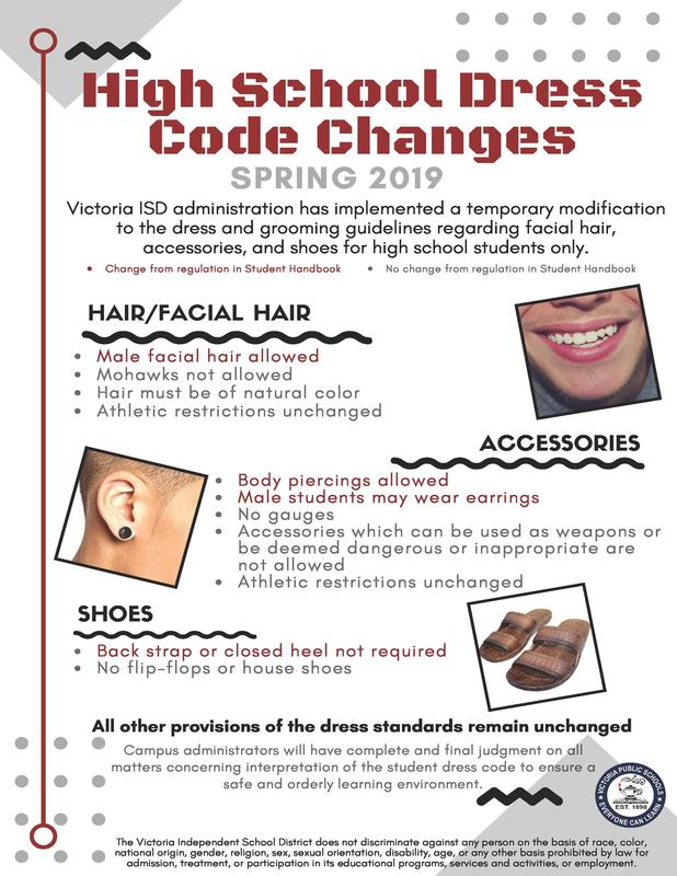 flyer describing changes to dress code