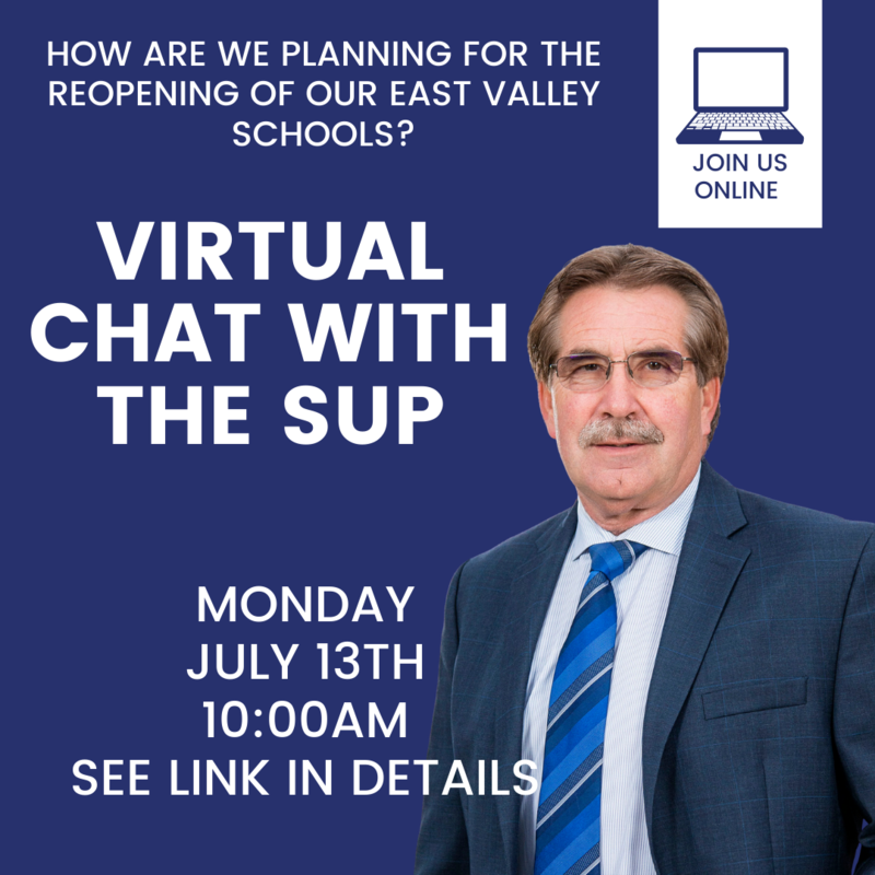 Virtual Chat with Sup - Monday, July 13th at 10:00AM. Click title for Zoom LInk with pic of John Schieche.