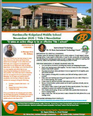 November 2020 Title 1 Newsletter Featured Photo