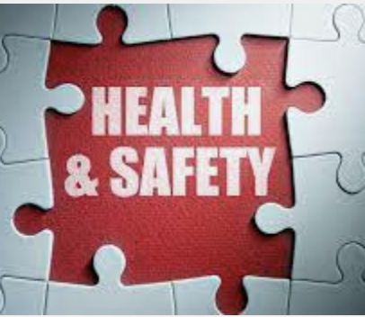 Words Health and Safety in puzzle piece