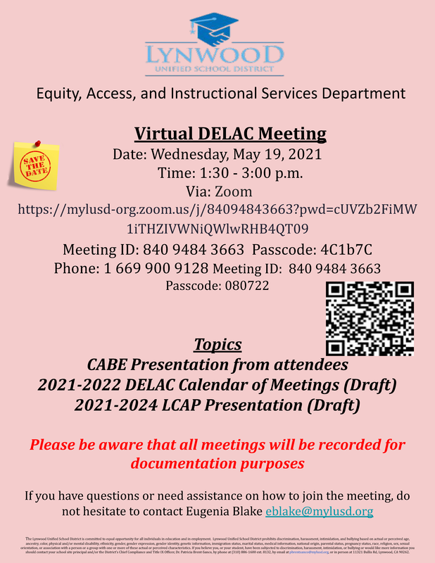 DELAC Meeting Featured Photo
