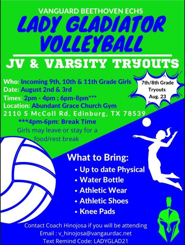 Beethoven Volleyball tryouts flyer Featured Photo
