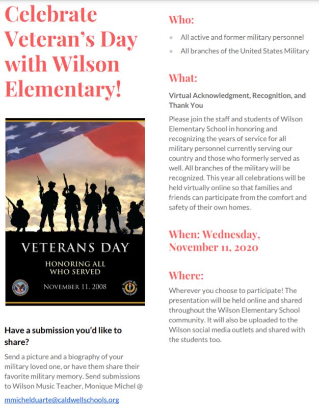 Virtual Veteran's Day Appreciation