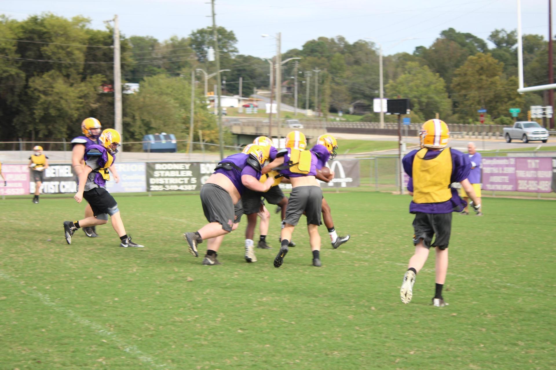 Football Practice Shot