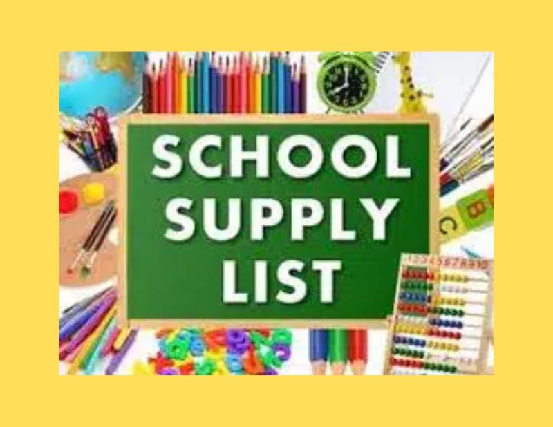 School Supply List 2021-2022 Thumbnail Image