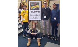 Members of Mars Area Middle School's Science Bowl Team, (from left) Naiya Patel, Mitchell Kulfan, Madeline Wolf, Cole Winstead and Nameer Dheen competed in the 2019 Southwestern Pennsylvania Regional Middle School Science Bowl.