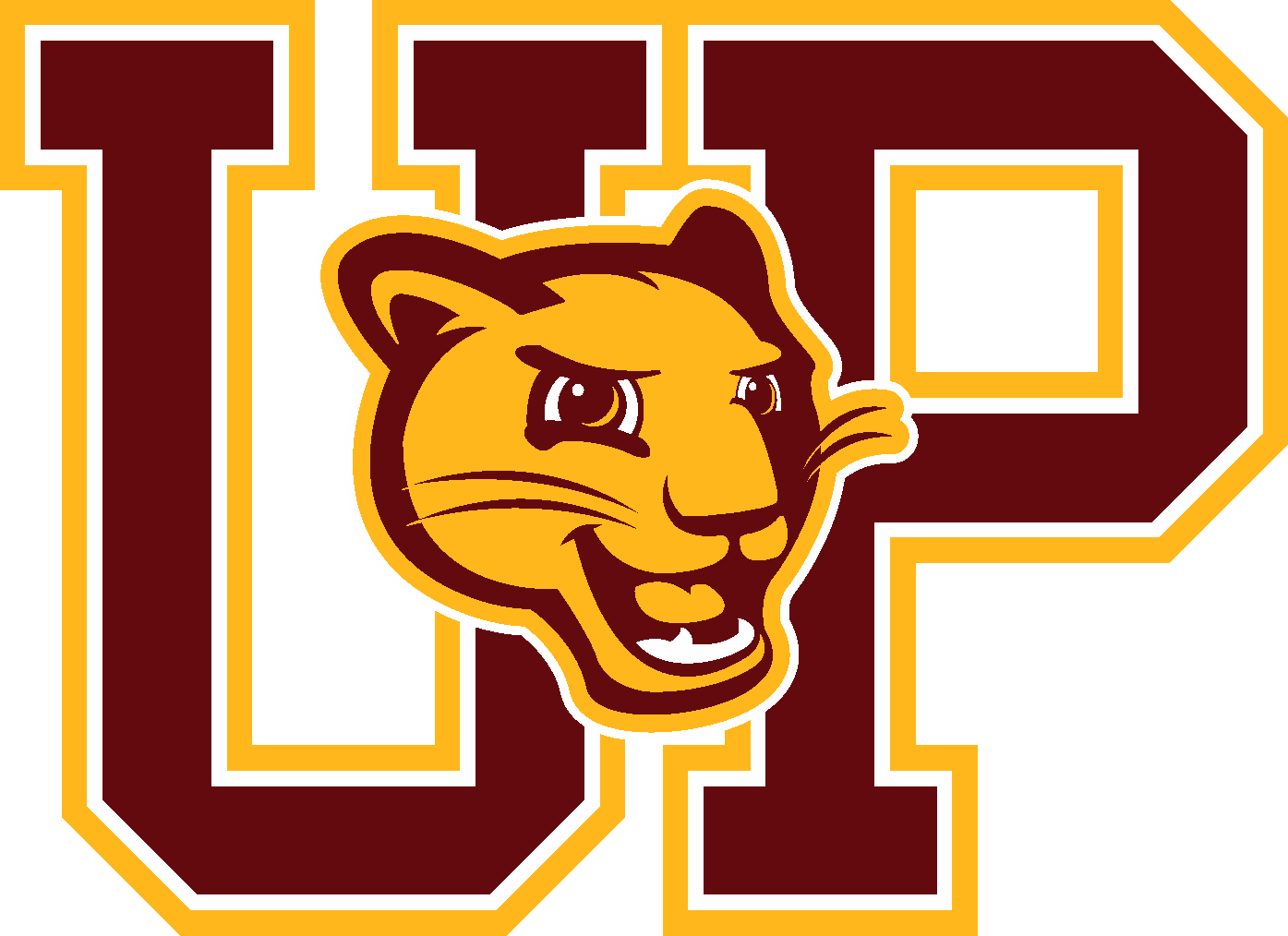 UP letter and mascot logo