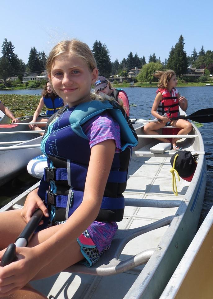 Canoe fun on the lake