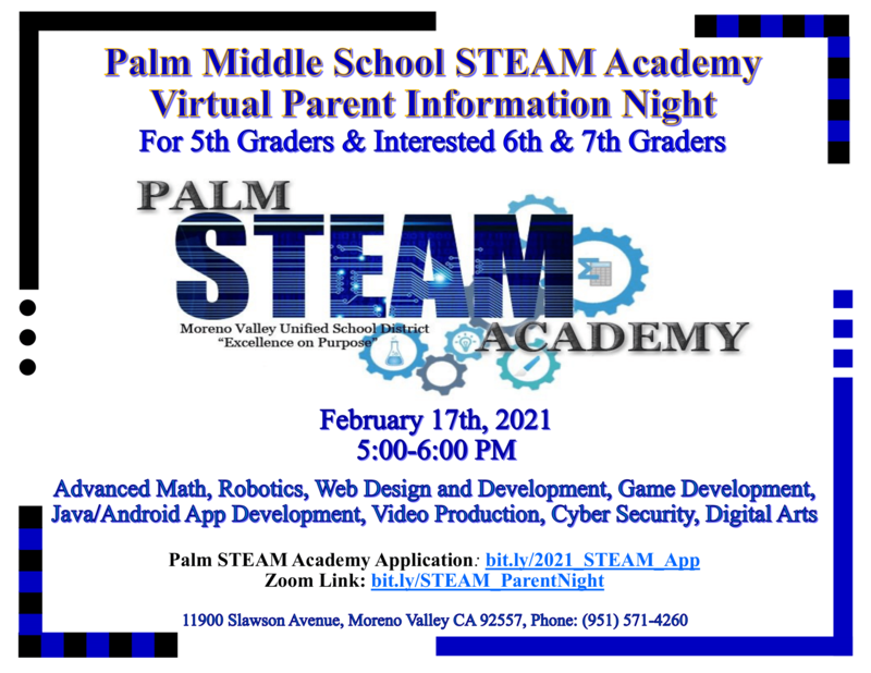 Parent Information Steam Night Flier