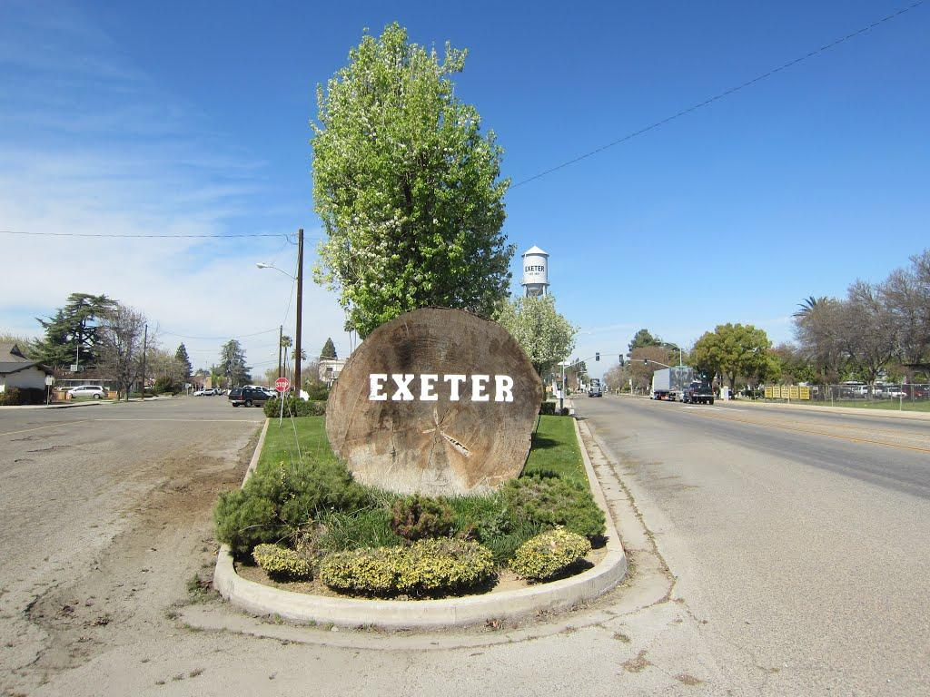 City of Exeter Log Sign- center