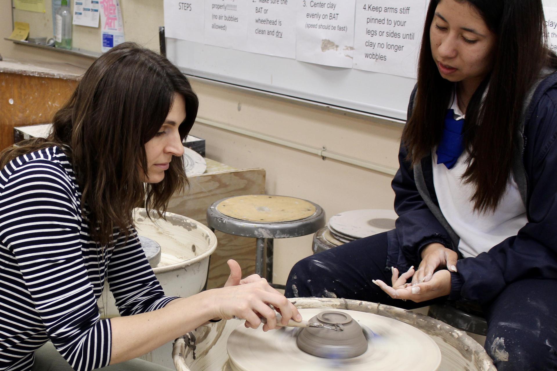 ceramics with teacher