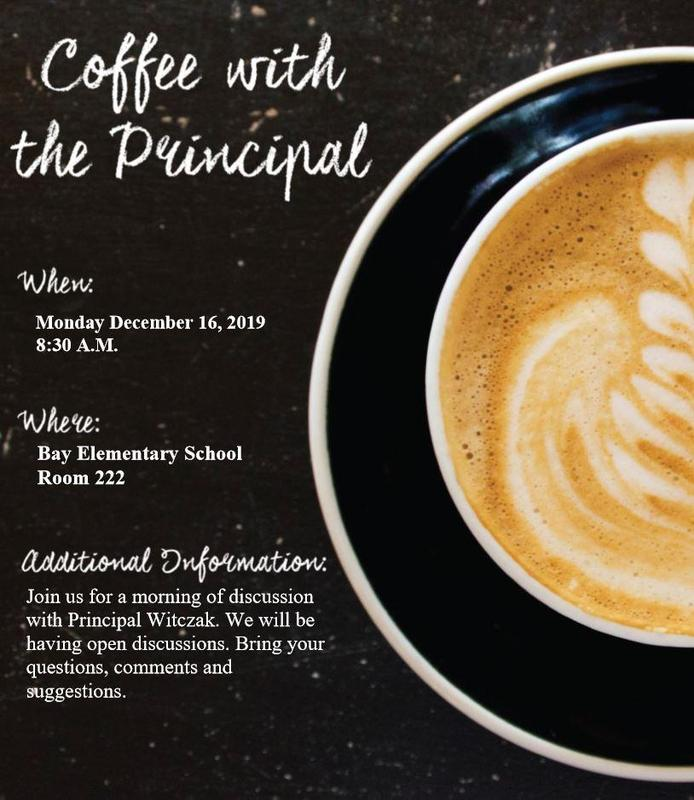 Coffee with the Principal Monday Dec. 16th 8:30 am to 9:30 am Featured Photo