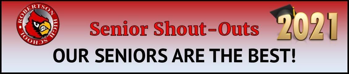 Senior Shout Out header