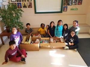 Kindness Club with food donations