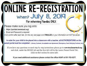 online re-registration