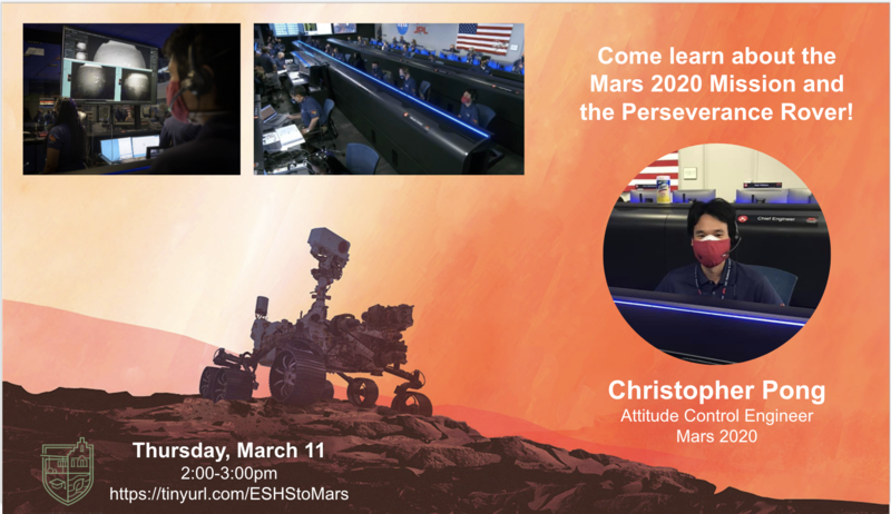 One Hour Q&A with Mars 2020 Spacecraft Engineer (Thursday, March 11 @ 2pm) Thumbnail Image