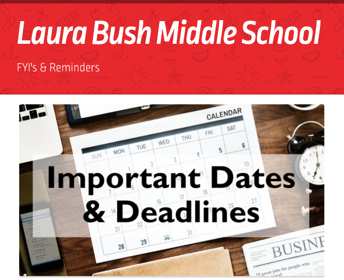 LBMS Important Dates and Deadlines Thumbnail Image