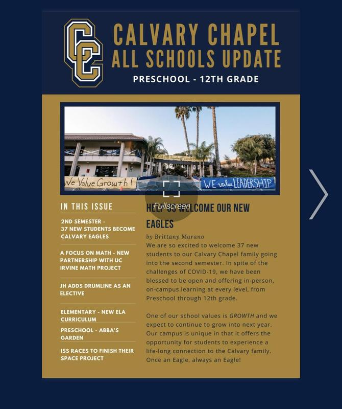Calvary Chapel All Schools February Update Featured Photo