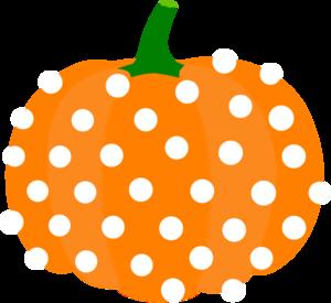 polka dotted pumpkin