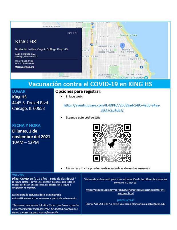 Vacunación contra el COVID-19 en KING HS