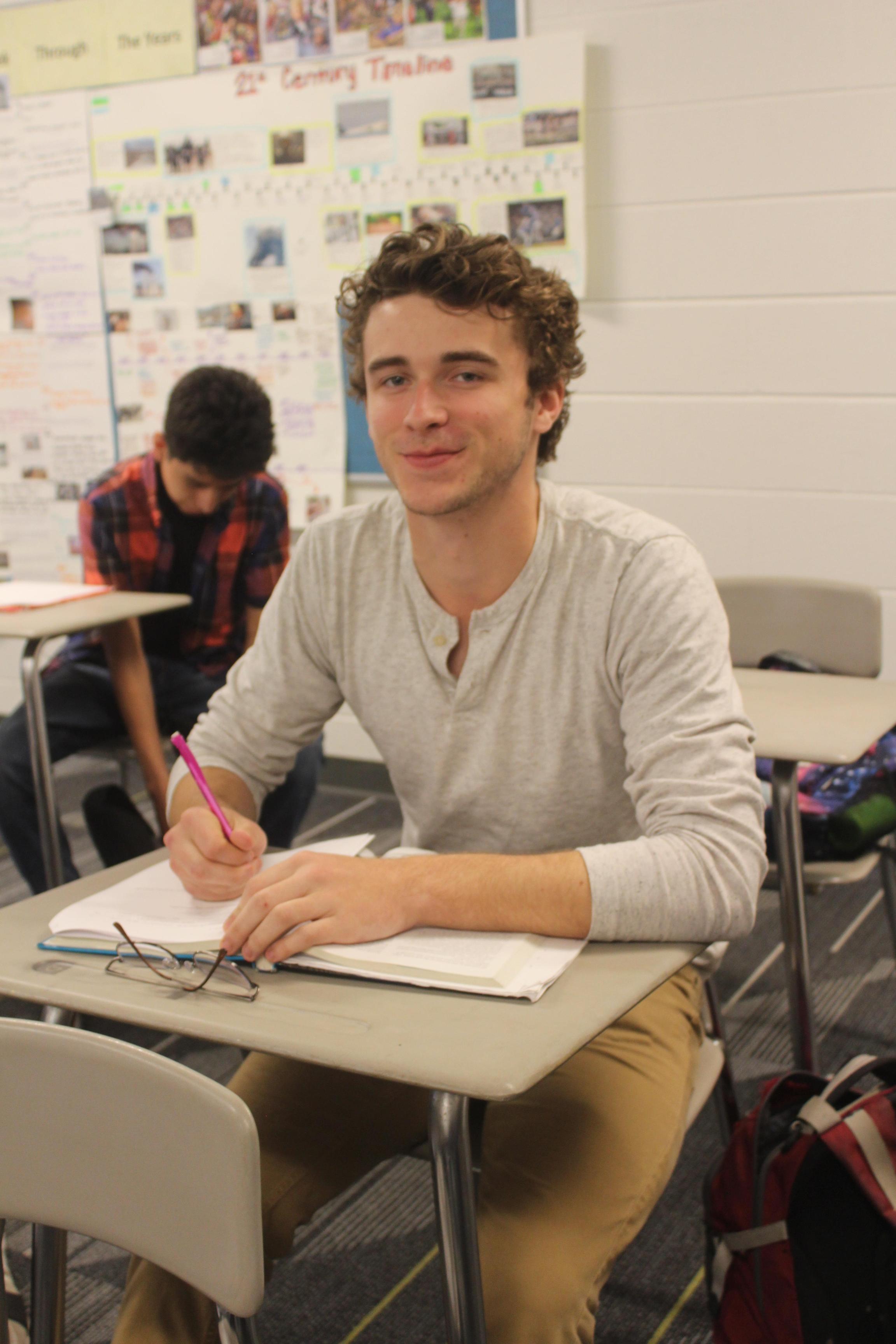 Nick Tilley in class