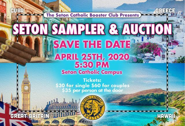Save the Date! Seton Sampler & Auction April 25th, 2020 Featured Photo