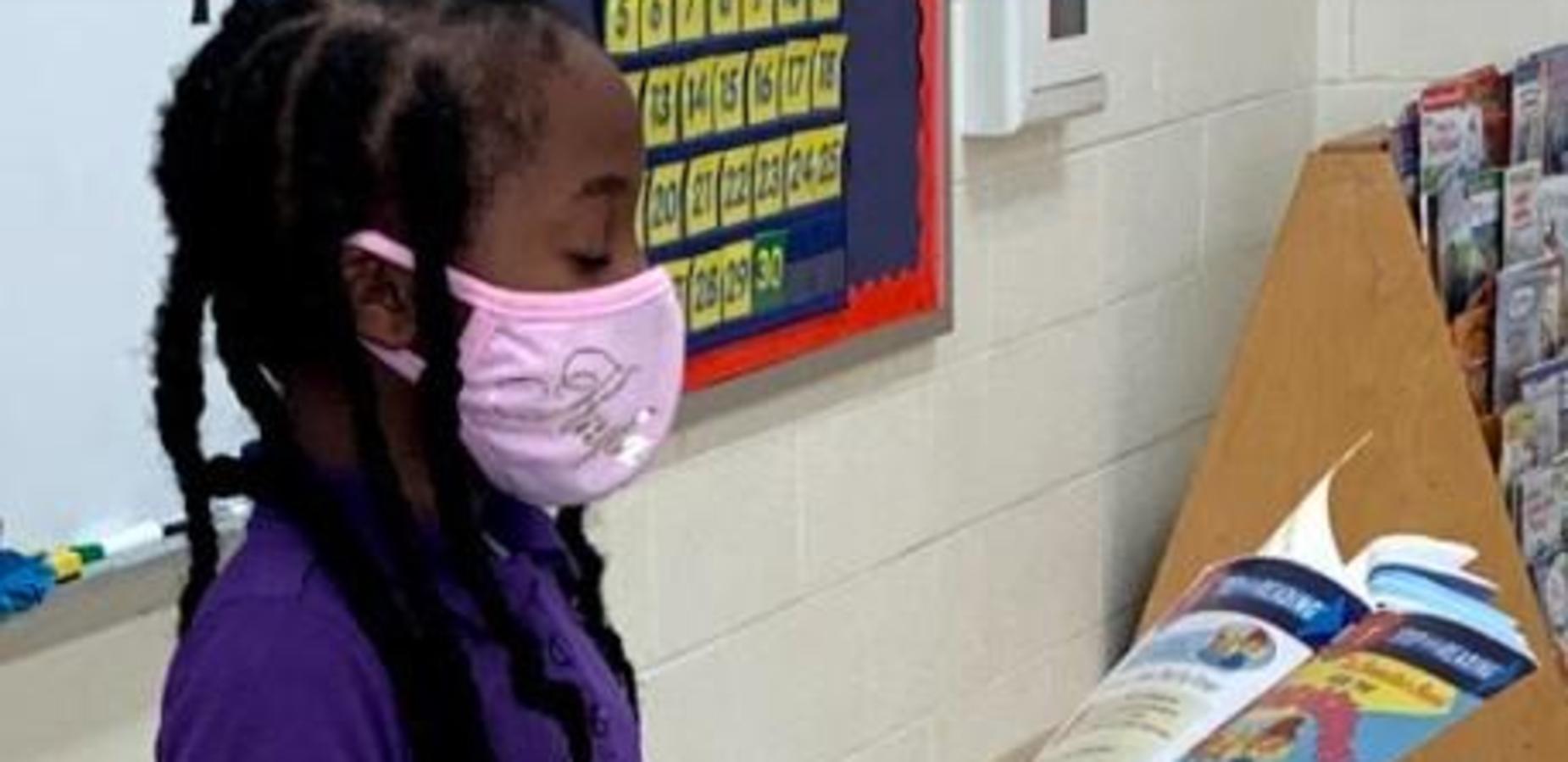 2nd grader reading aloud