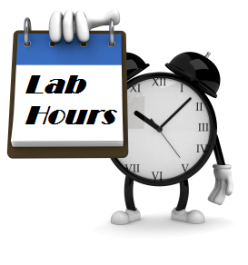 Lab hour signs