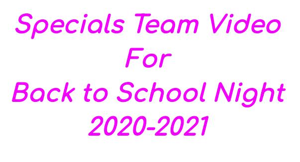 Specials Team Video