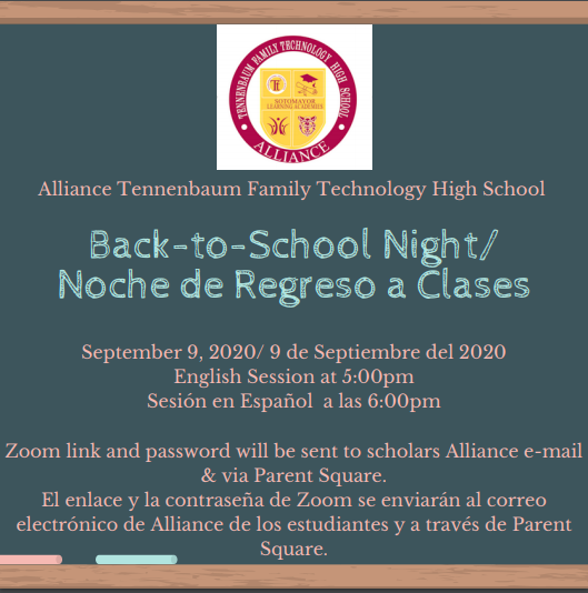Back to School Night/ Noche de Regreso a Clases Thumbnail Image