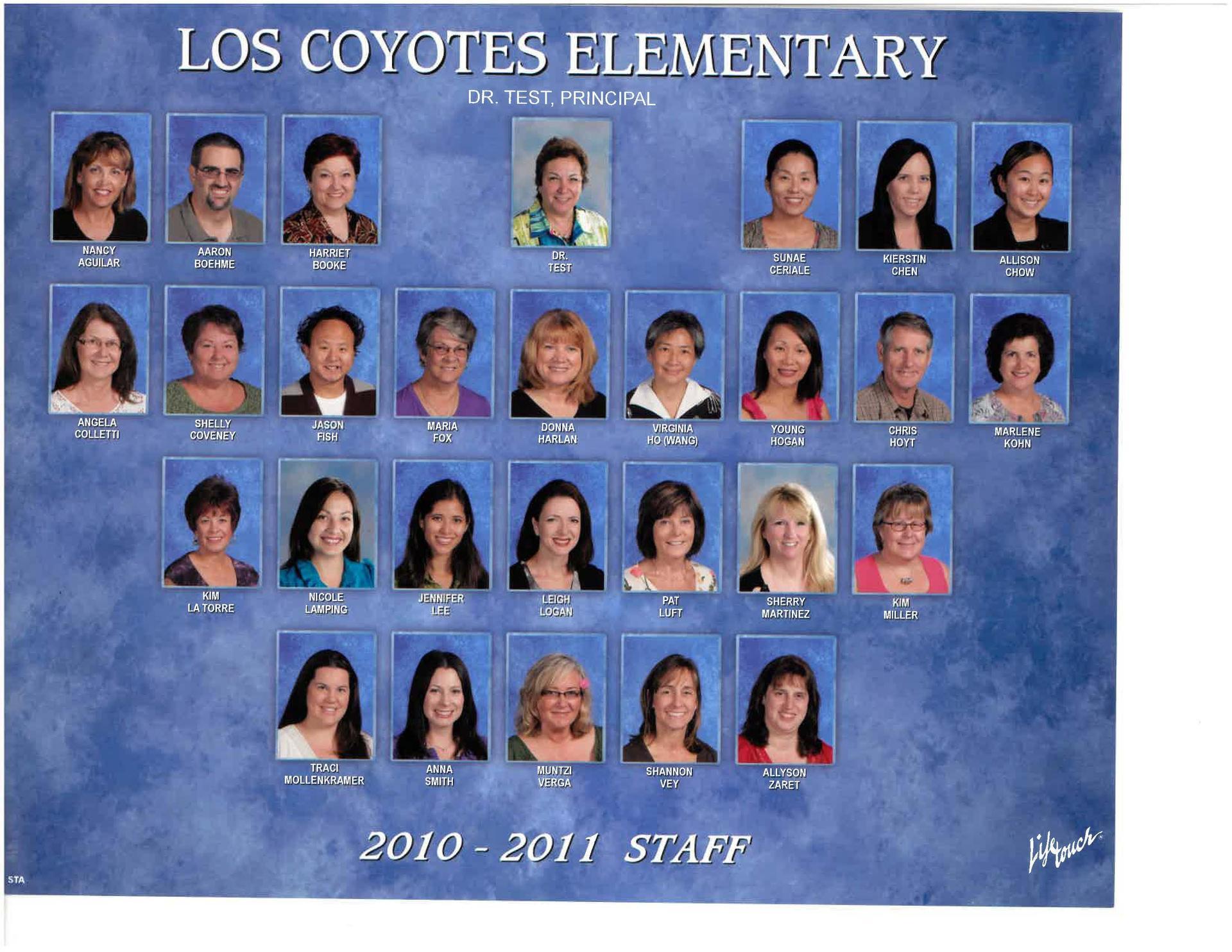 Los Coyotes Staff 2010