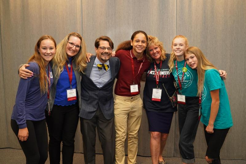 prospect high school students and staff at state inclusive conference