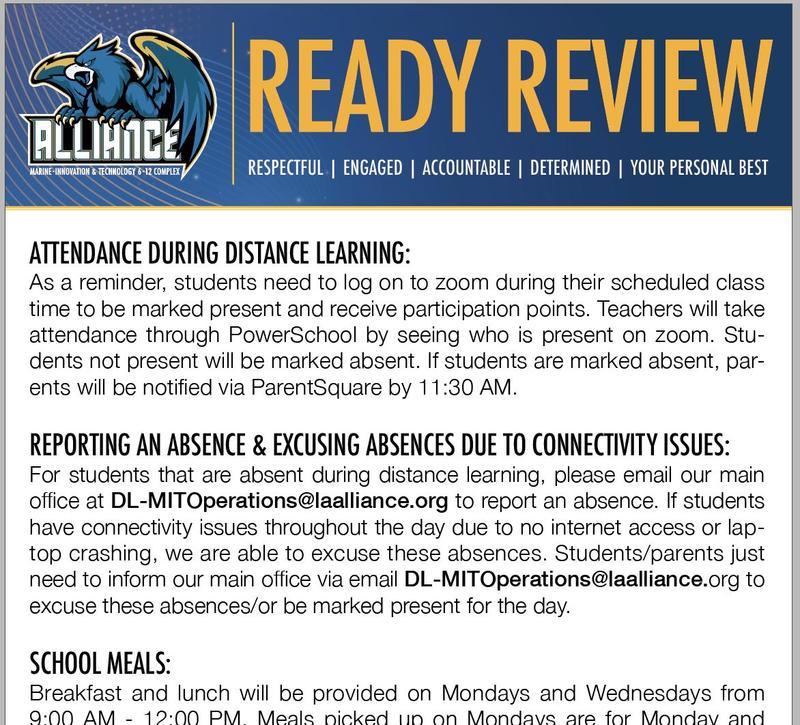 READY Review: September 7 - 11, 2020 Thumbnail Image