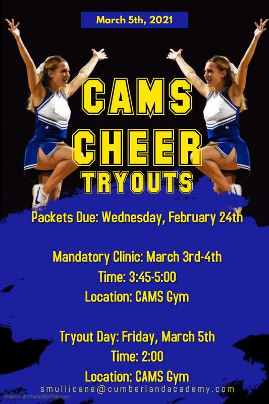 21-22 CAMS Cheer Tryouts Featured Photo