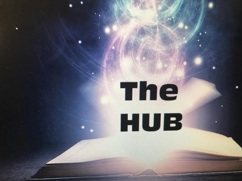 WLHS Library The Hub Logo