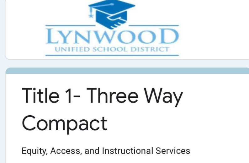 Families, if you have not filled out the 3-Way Compact online please do so. Featured Photo
