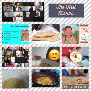 Tortilla making collage