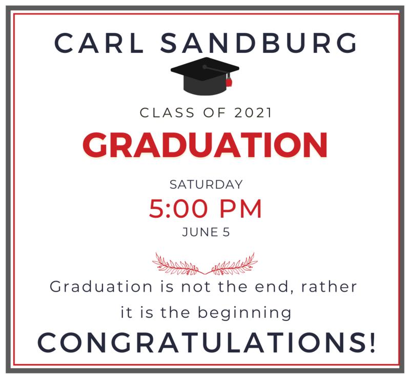 Carl Sandburg Graduation June 5
