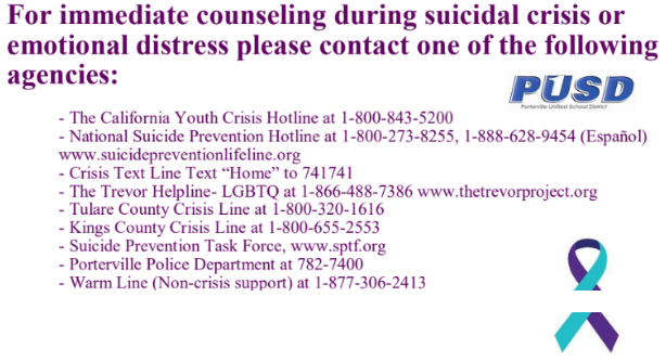 Suicide Prevention Numbers