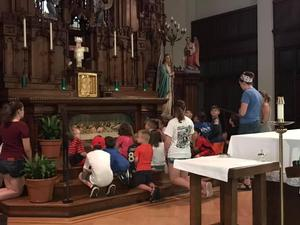 OLSH Creator Camp participants visit the chapel
