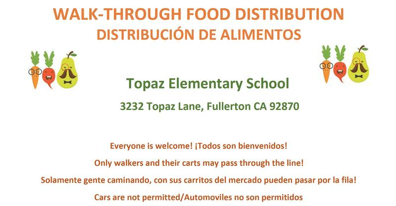 Walk-Through Food Distribution on May 20, 2020 (10:30 AM - 12:00 PM)
