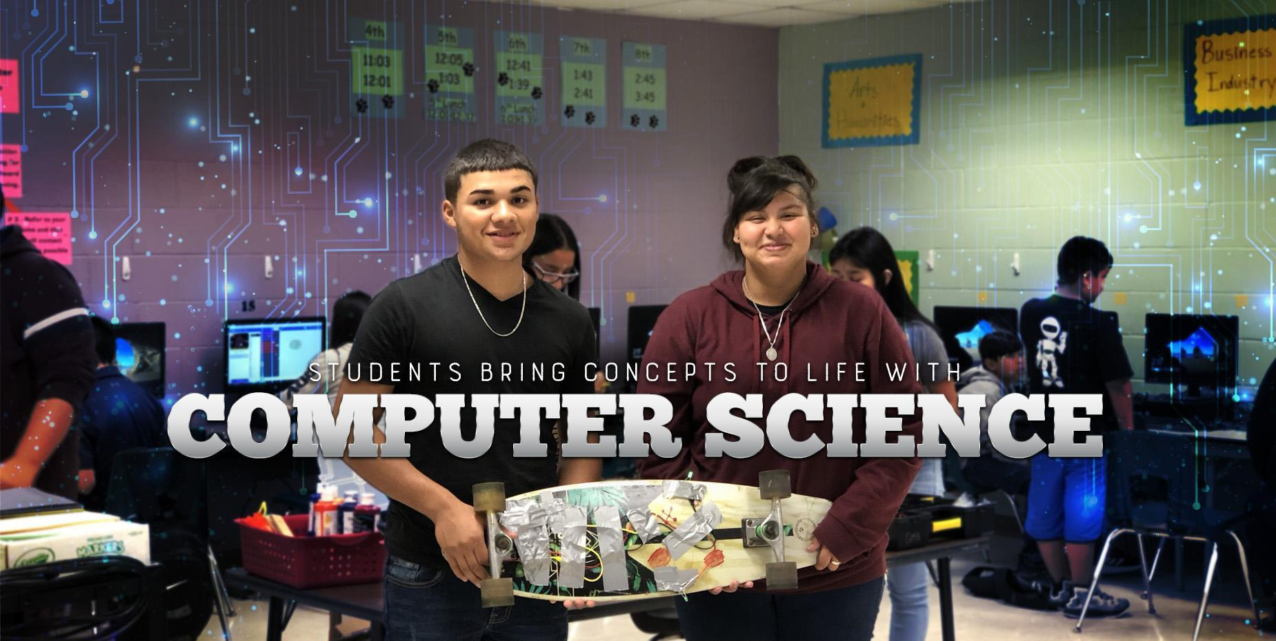 Students bring concepts to life with computer science