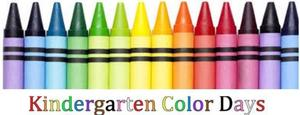 Kindergarten color days