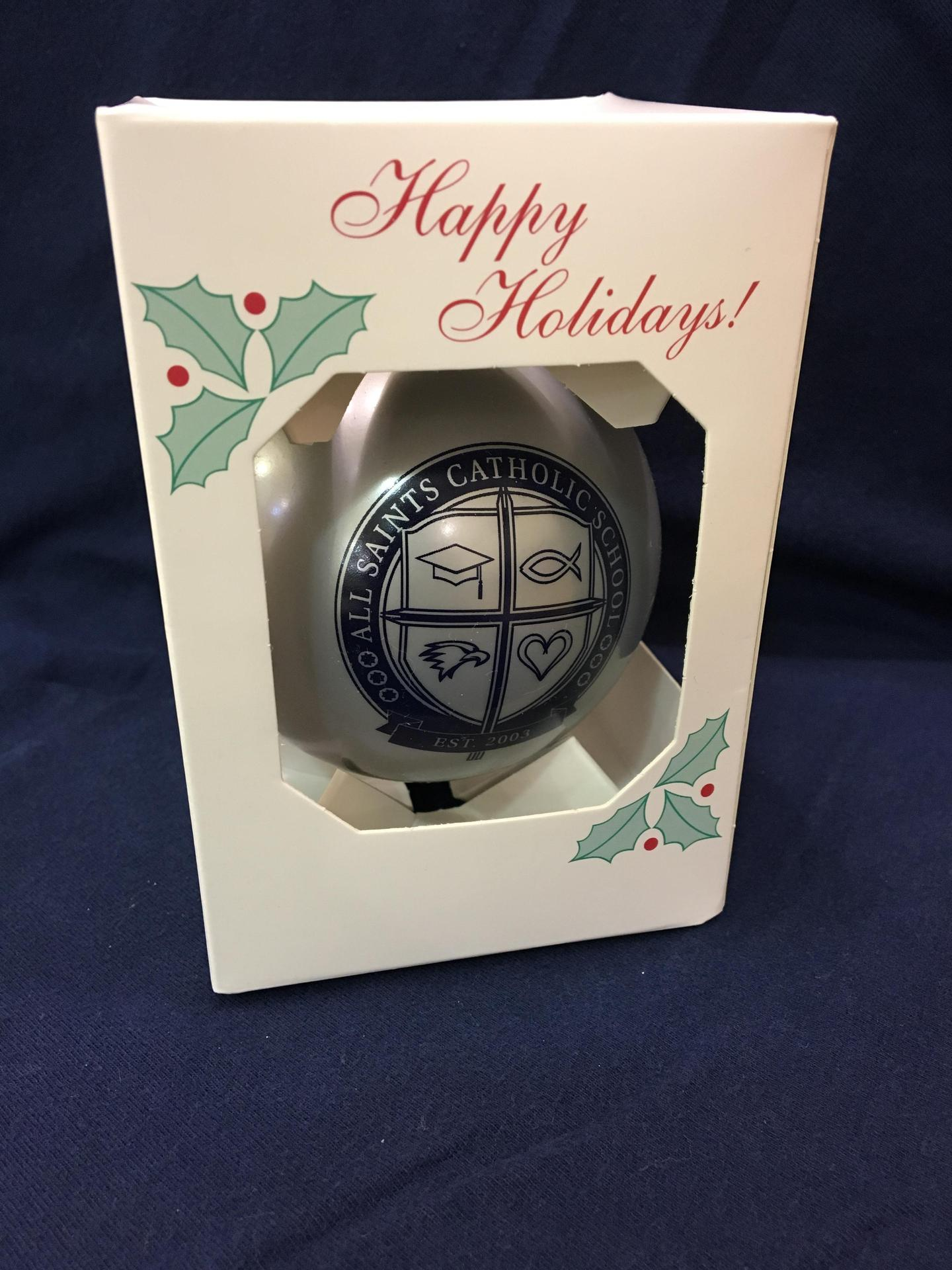 Silver Shatterproof Christmas Ornament