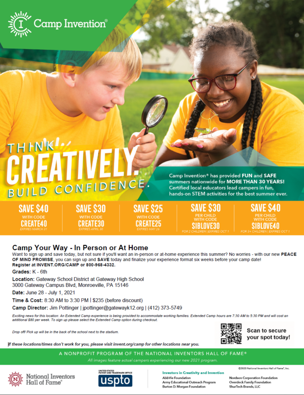 Picture of Camp Invention Flyer