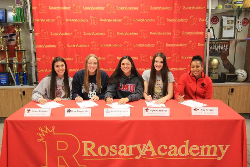 Fall Signing Day at Rosary Academy Featured Photo