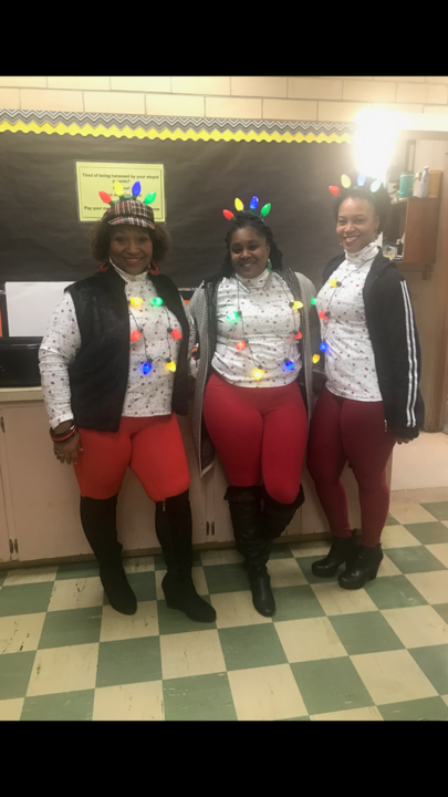 three faculty friends