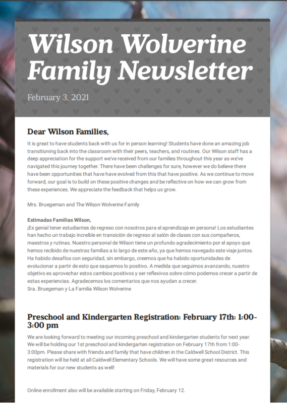 February Family Newsletter