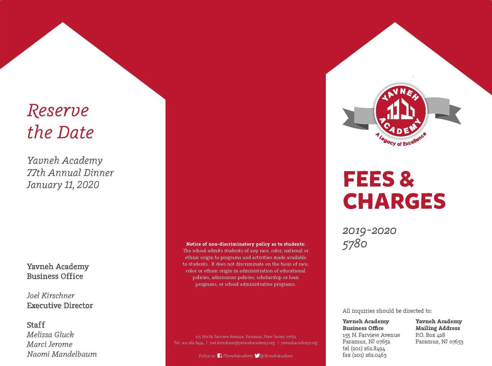fee schedule