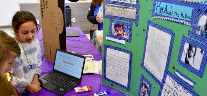 Presentation at 5th Grade IB Exhibition